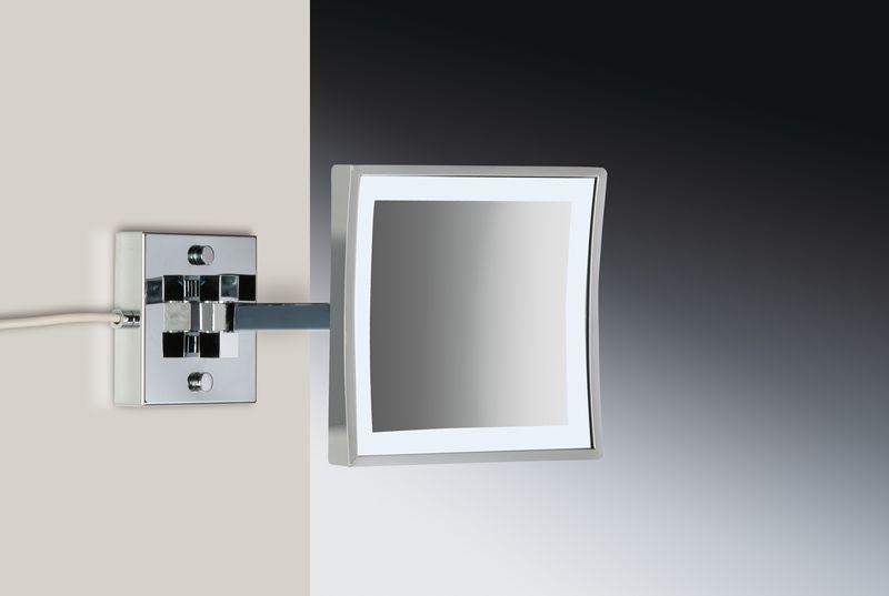 windisch high quality productos espejo pared aumento con luz led 1 brazo con sensor. Black Bedroom Furniture Sets. Home Design Ideas